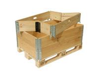 Caja Compuesta por Palet y aros de madera