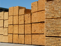 Lumber for pallets and packaging